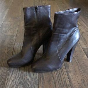 Chocolate brown boot